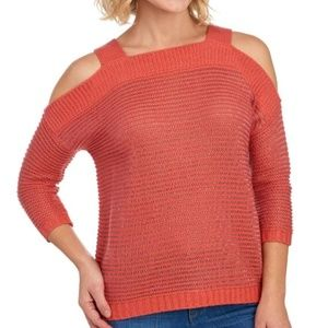 Spiced Coral cold shoulder sweater Women's Medium